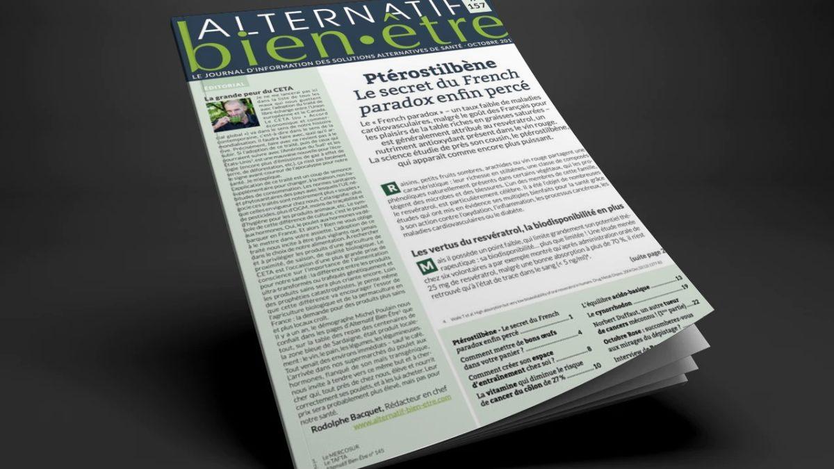 Alternatif Bien-Être n° 157 : numéro du mois d'octobre
